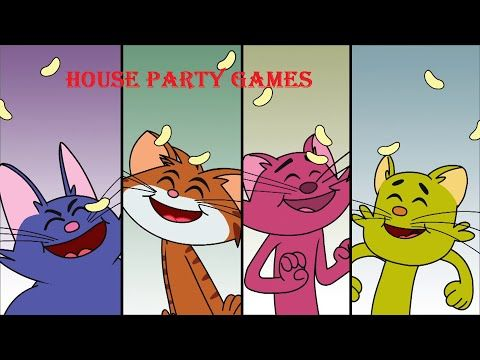 "Cat & Keet | Funny Cartoon Videos | ""House Party Games"" 