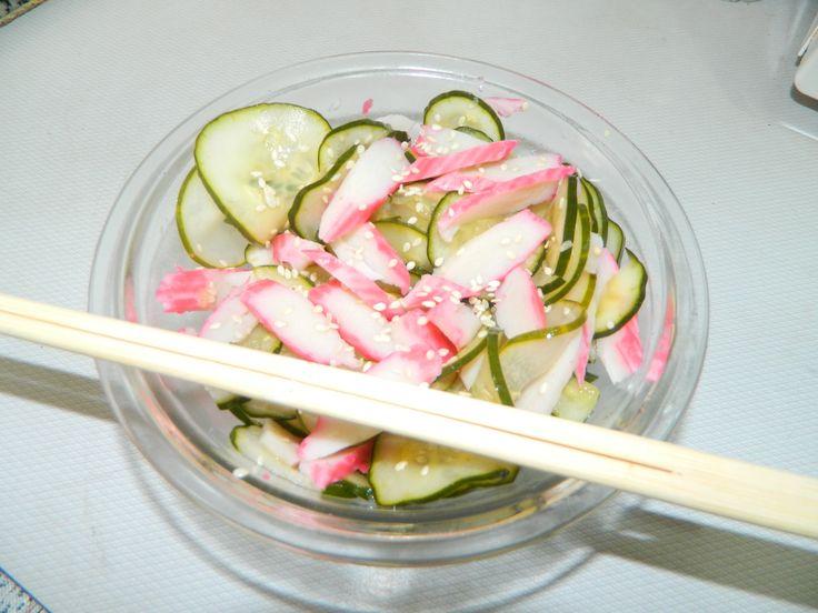 Sunomono (Salada de pepino agridoce com kani | Saudável | Receitas Gshow