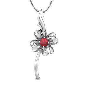 Sweet Flower Ruby Pendant