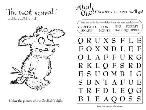 gruffalo google search - Gruffalo Colouring Pages To Print