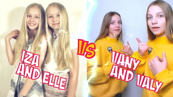 Iza And Elle VS Vany And Valy l Battle Musers l Musical.ly Compilation