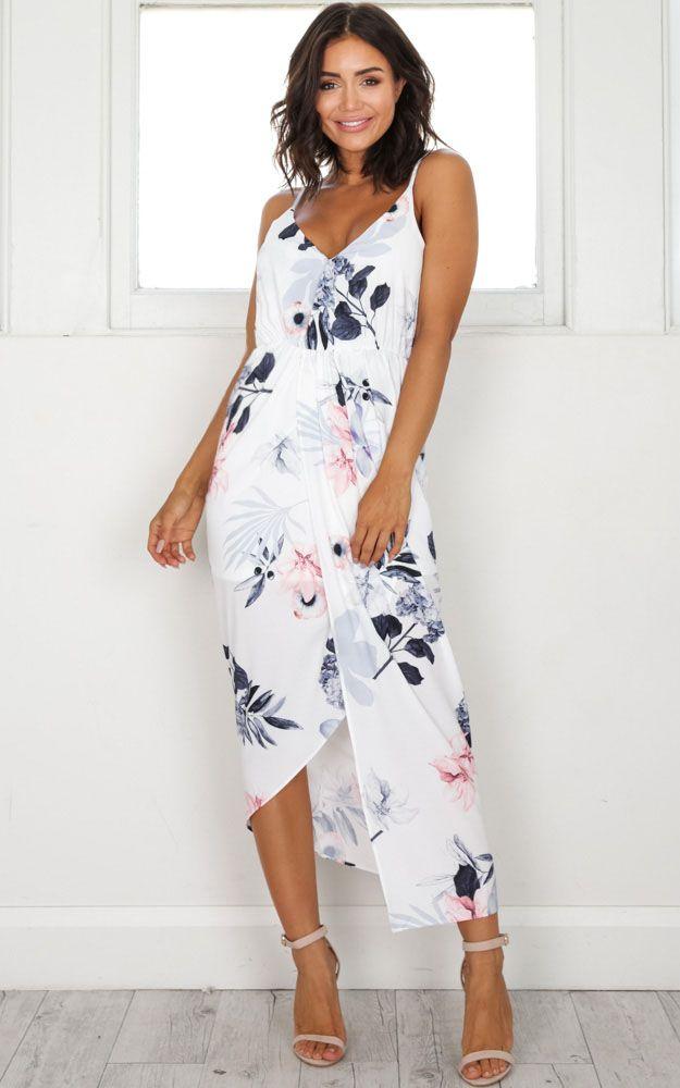Under The Moonlight dress in white floral SHOWPO Fashion Online