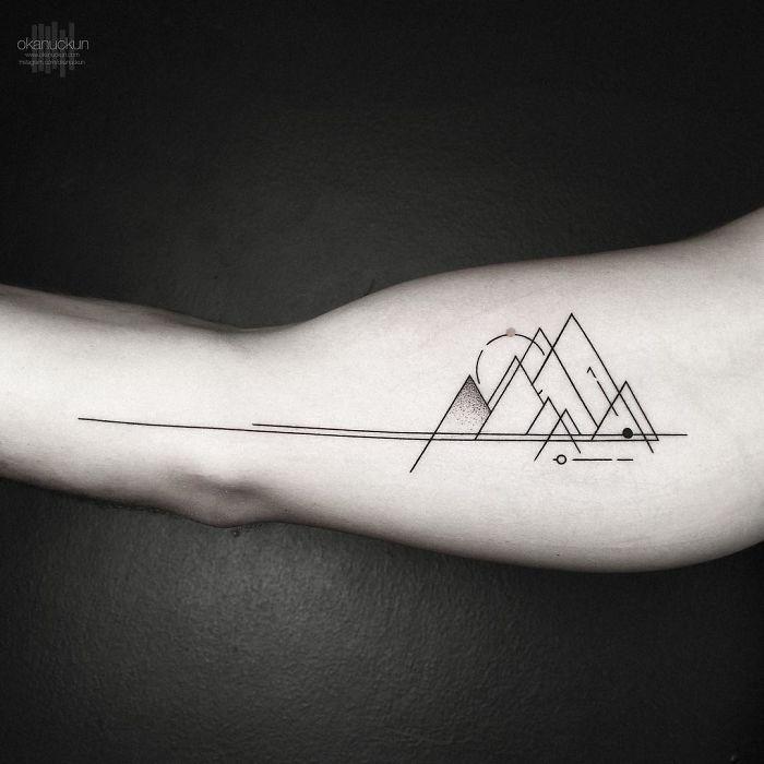 Artist Inspired By Nature And Geometric Shapes Creates Perfect Minimalist Tattoos In 2020 Minimalist Tattoo Fine Line Tattoos Mathematical Tattoo