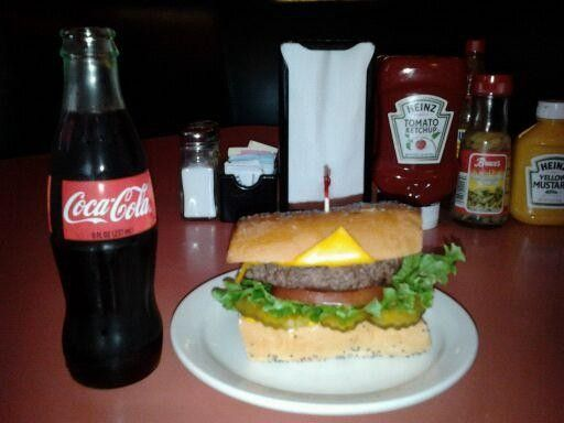 """Rotier's Cheeseburger on French Bread.   A definite """"gotta do"""" for any burger lover."""