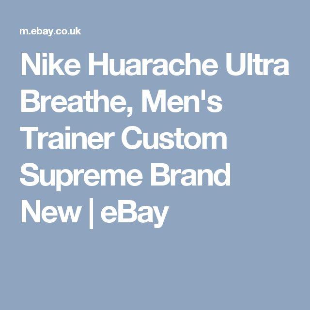 Nike Huarache Ultra Breathe, Men's Trainer Custom Supreme Brand New | eBay