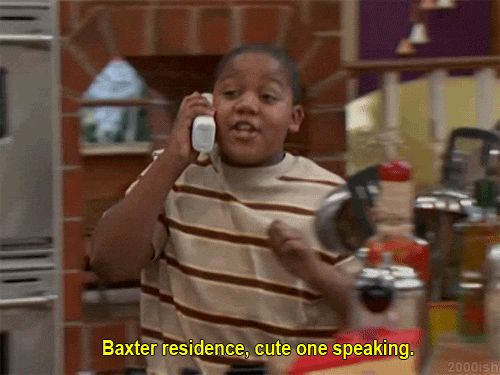 """When he figured out the perfect way to answer the phone: 