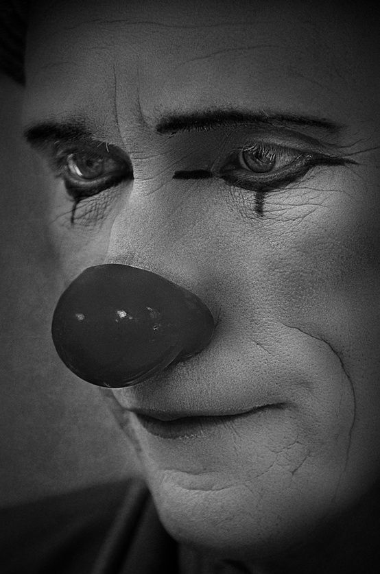 photo by camilo alvarez  ...not a fan of clowns, but his face expression drew me in...