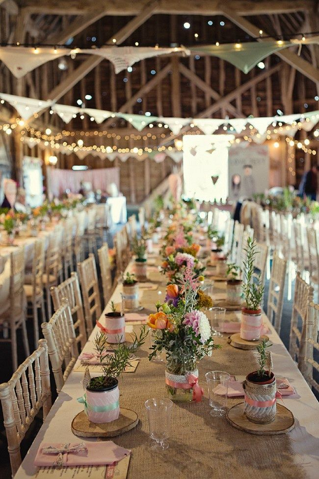 I like the idea of giving each of the guests a plant. Also the fairy lights hanging up are stubbing!!!!