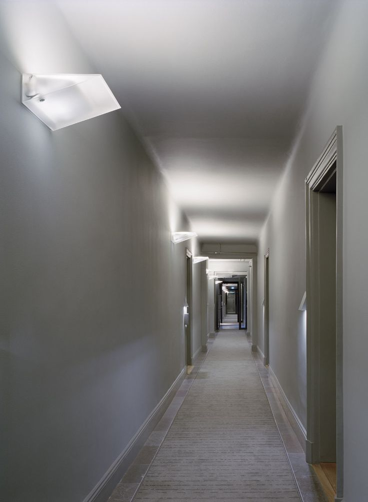 Hotel Skeppsholmen corridor with Pinstripe carpet for Kasthall, by Claesson Koivisto Rune