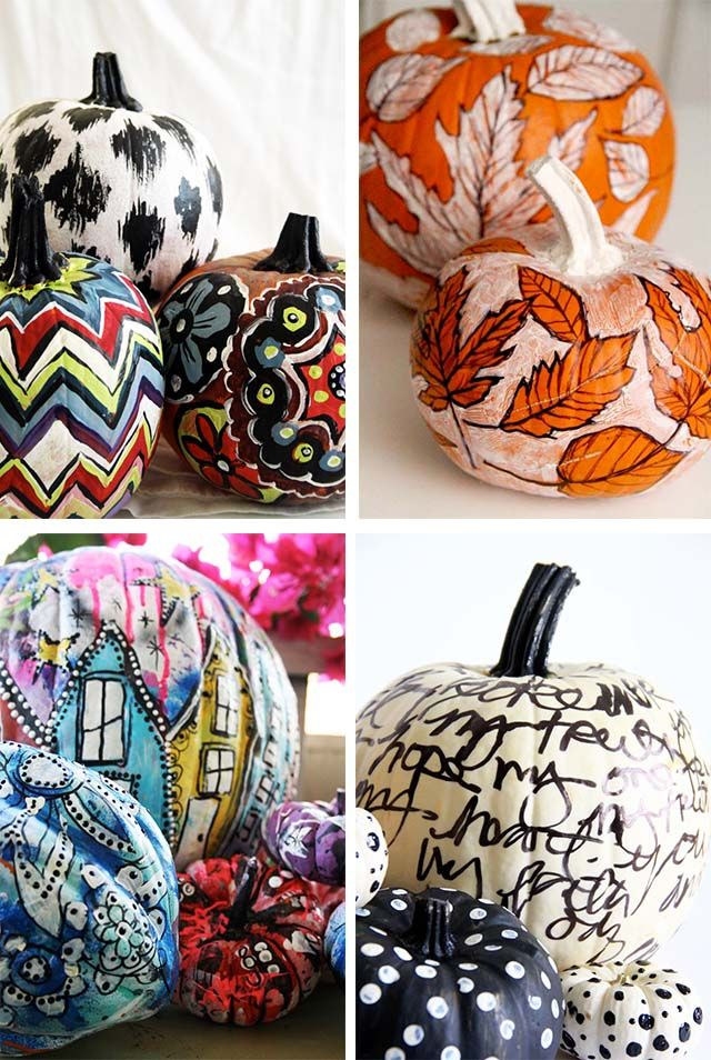 alisaburke: the art of painting pumpkins; tutorials on her website. How cute are these!!: