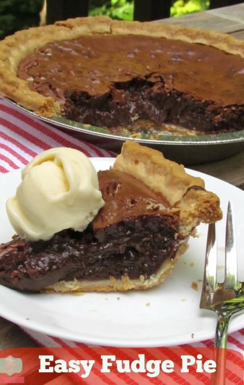 easy fudge pie: takes minutes to throw together