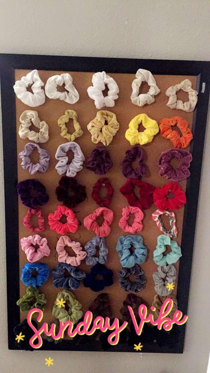 Scrunchie Wall Cork Board Thumb Tacks And Scrunchies