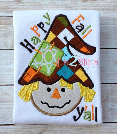 Etsy listing at http://www.etsy.com/listing/160773956/scarecrow-boy-happy-fall-applique-design