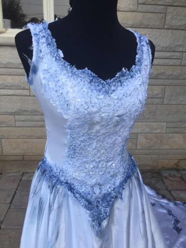 The Corpse Bride Emily Wedding Dress Halloween Costume One Of A Kind Sz 8 Womens