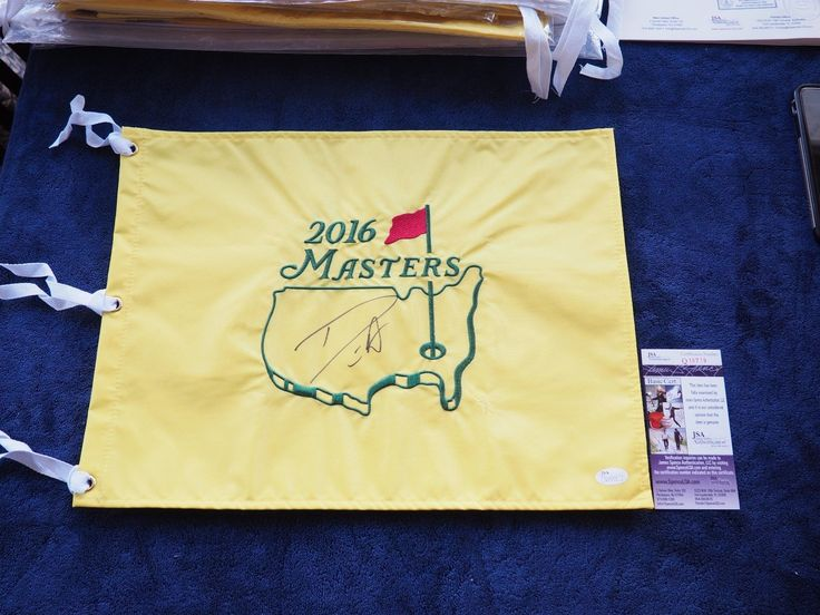 2016 CHAMP DANNY WILLETT signed THE MASTERS OFFICIAL GOLF PIN FLAG AUGUSTA JSA