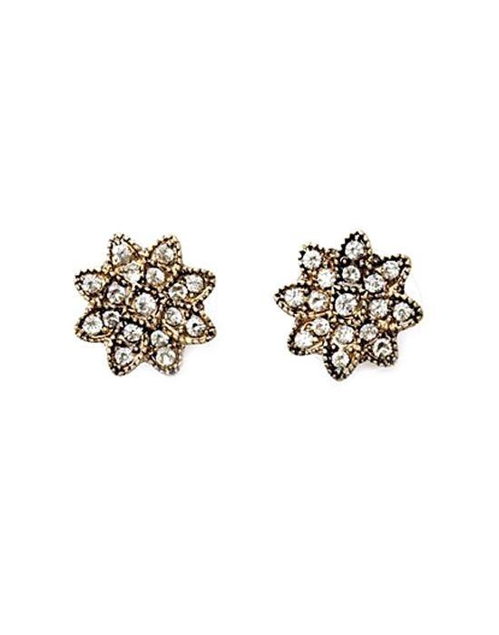 Last True Angel crystal flower earrings
