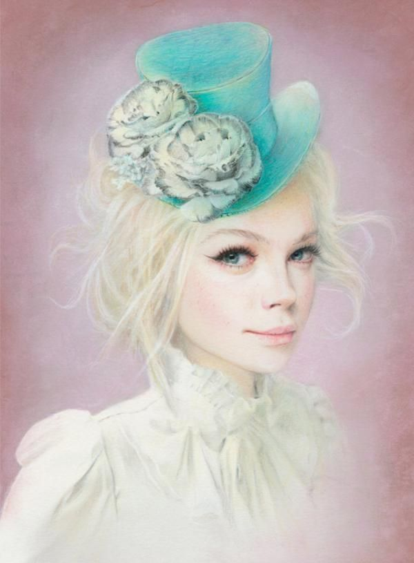 Mixed Media Portrait Illustrations by Bec Winnel #illustration #painting #drawing