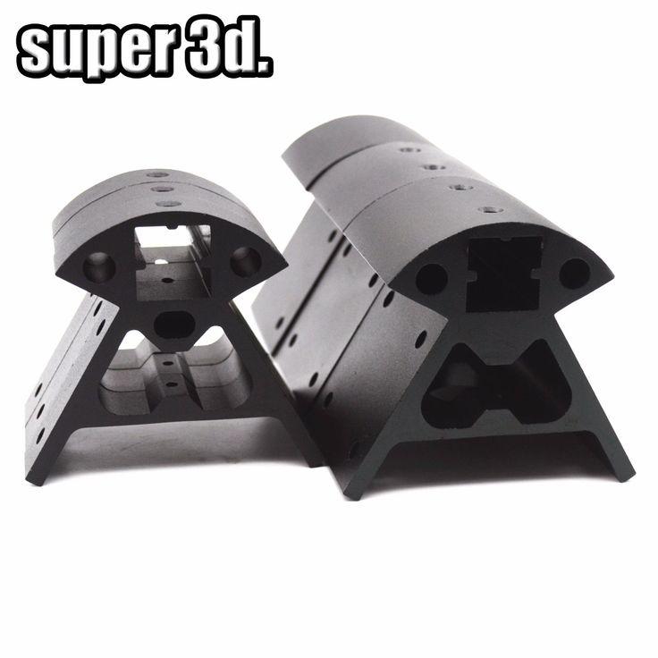 1 set Reprap Kossel All-metal Aluminum Corner Piece Frame Vertical Base Delta Top Bottom Vertex Big And Small 3D Printer Parts