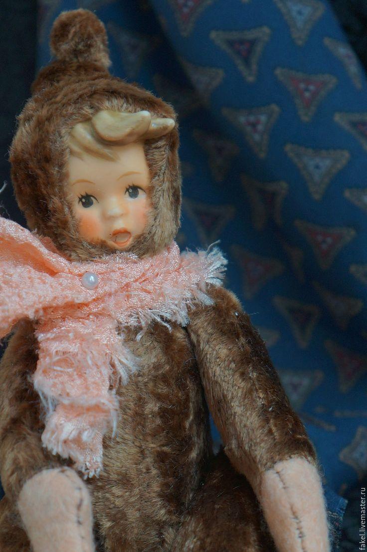 Buy OOAK art doll. Antique collectible porcelain doll . Antique Bisque Dol