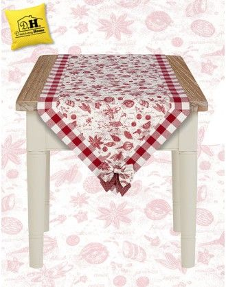 Runner a Punta Country Chic Collezione Toile Spezie Angelica Home & Country 50 x 140 cm