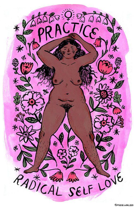 Practice Radical Self Love print (pink v.1) ~new version~