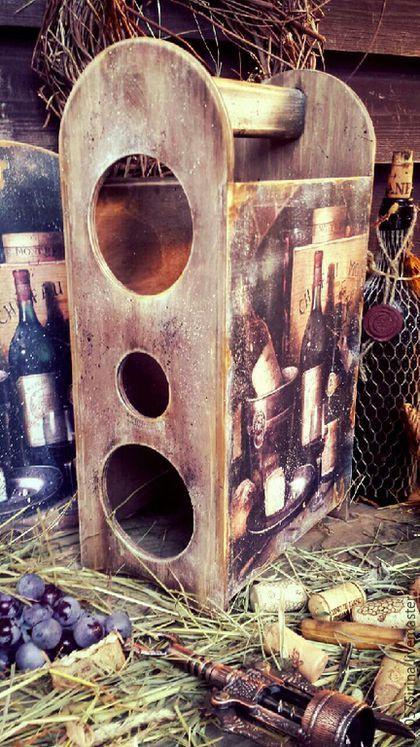 Купить или заказать ' Винная лавка' . Короб для вина и доска. в интернет-магазине на Ярмарке Мастеров. Короб для хранения вина, мини- бар. Рассчитан на три бутылки вина.