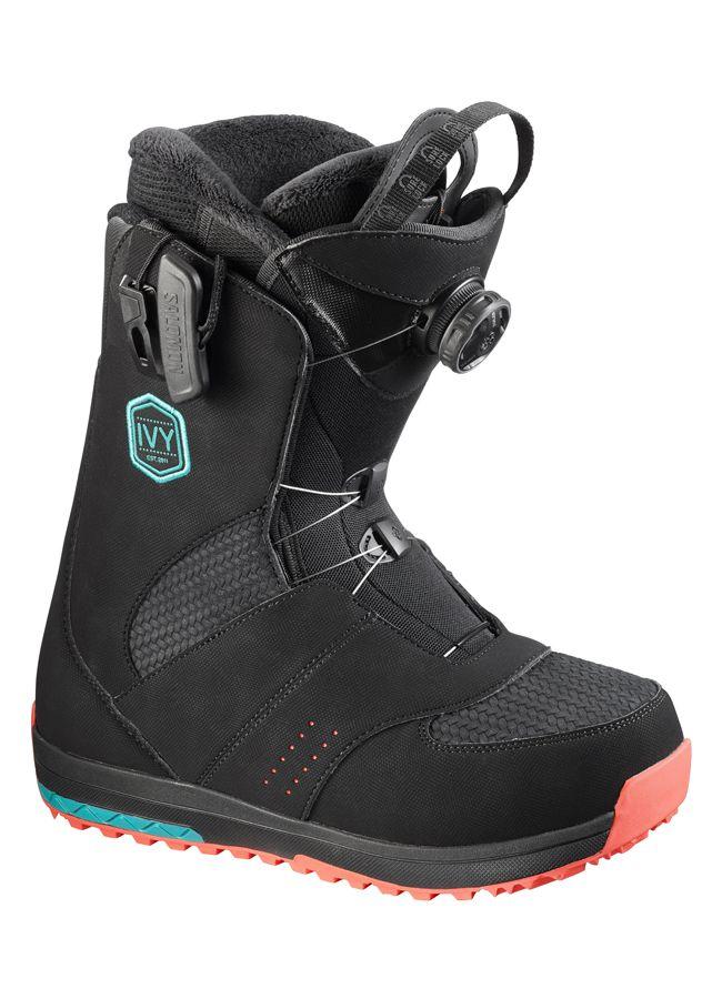 Salomon 2017 Ivy Boa SJ Snowboard Boots Black - Womens