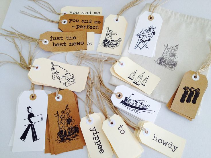 Stamped tags and bags