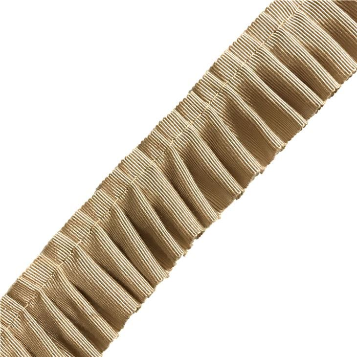 Cotton Fabric Pleated Trim Picot Edging Royal