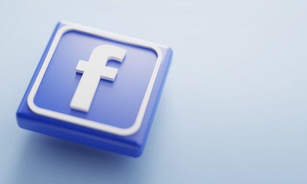 Facebook Logo 3d Rendering Close Up Account Page Promotion Template Simbolos Do Facebook Midias Sociais Agencia De Marketing