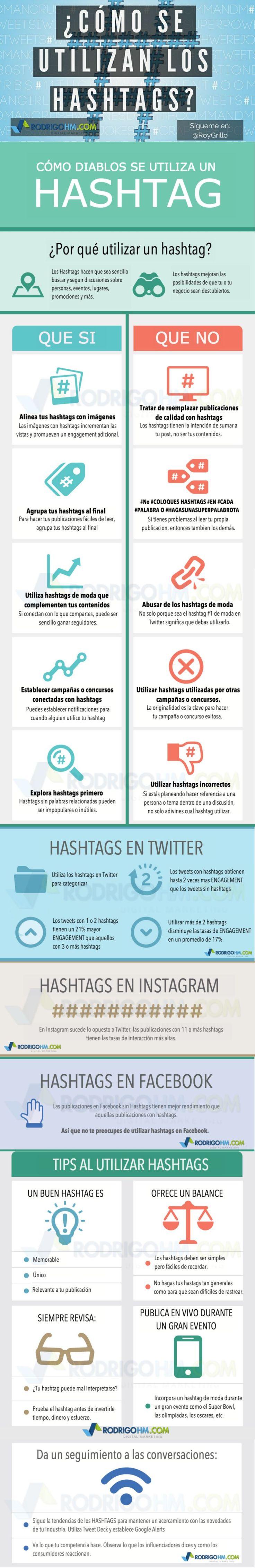 Redes Sociales: cómo usar los hashtags #infografia #infographic #socialmedia Leia os nossos artigos sobre Marketing Digital no Blog Estratégia Digital em http://www.estrategiadigital.pt/category/marketing-digital/