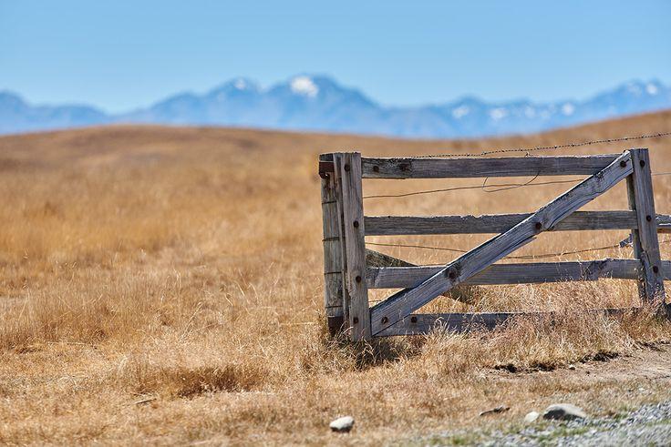 Old gate at Mount John near Lake Tekapo.