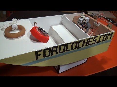 Barco teledirigido | fabricacion - YouTube