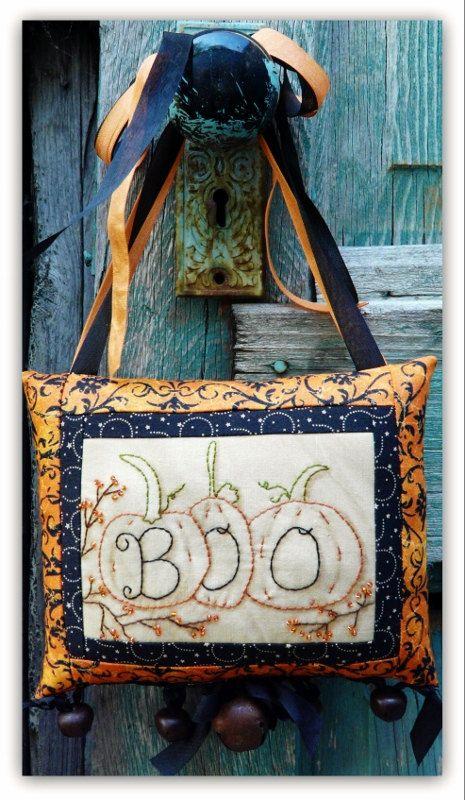 Halloween BOO embroidery pumpkin Pattern PDF by Hudsonsholidays, $7.99