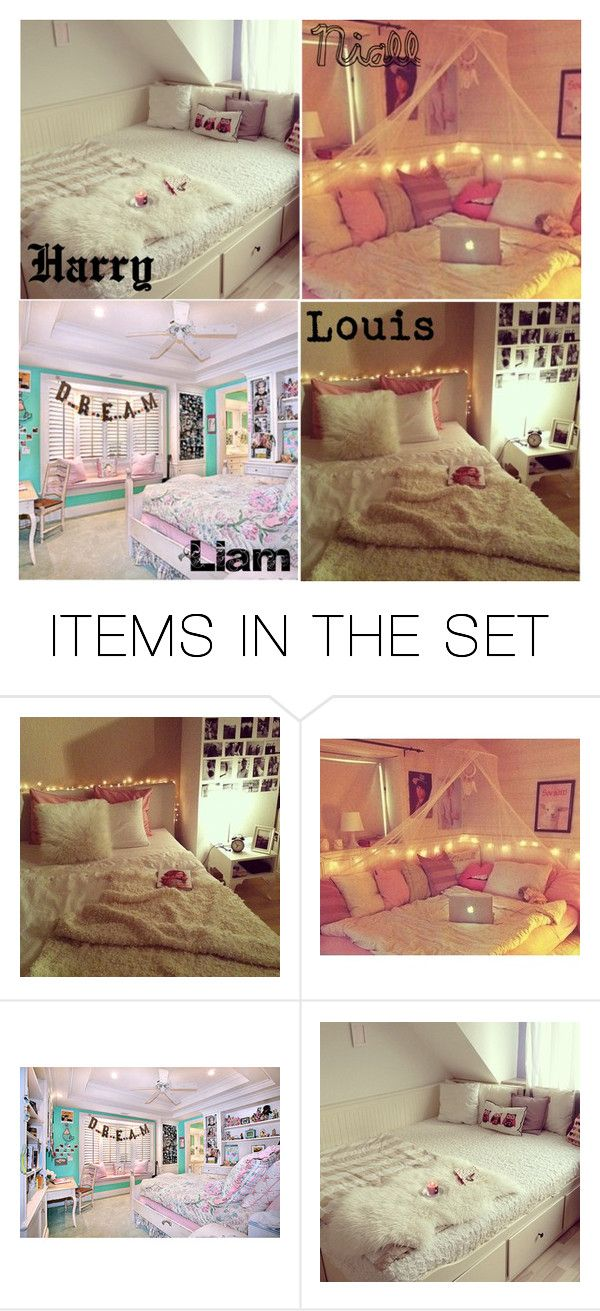 """One Direction Preferences-Bedroom"" by bey4 ❤ liked on Polyvore featuring art and bedroom"