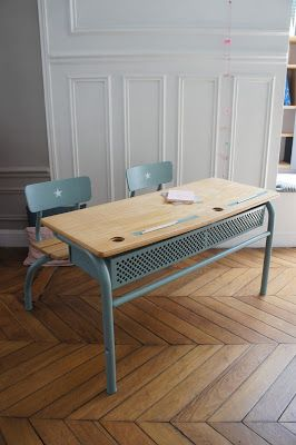 Vintage school desk for kids room