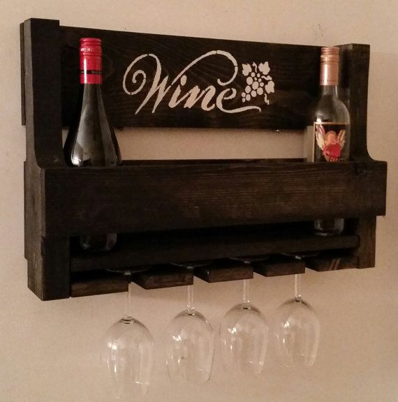 Pallet Wine Rack // Rustic Pallet Wine Rack // by KDMWoodcrafts