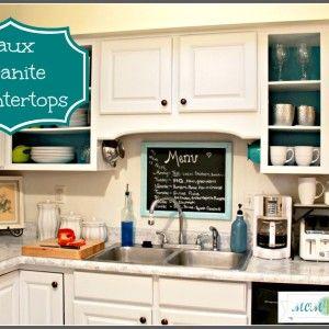 Faux Granite Countertops with Giani Granite Paint - must do!!!!  @Elizabeth Dias