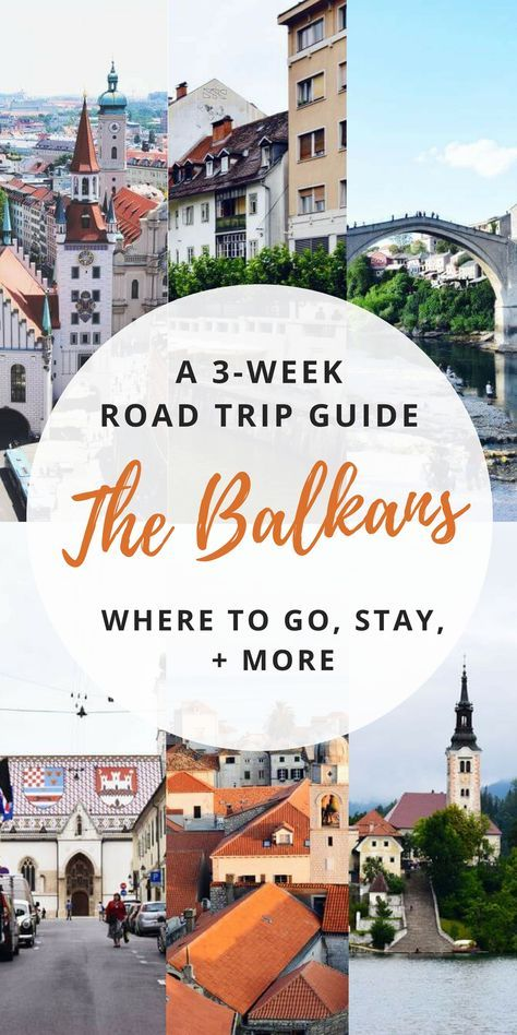 From Mostar to Zagreb to Lake Bled in Slovenia and more, here's a 3 week itinerary guide for travel to the Balkans! #balkans #europeantravels