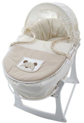 Buy your Teddy Bear Maize Moses Basket from Kiddicare Moses Baskets and Stands| Online baby shop | Nursery Equipment