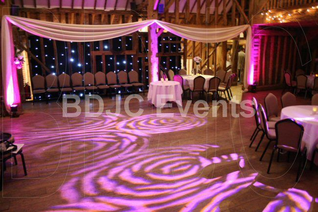 Transform your Wedding with high end moving head lighting, up-lights and lighting effects