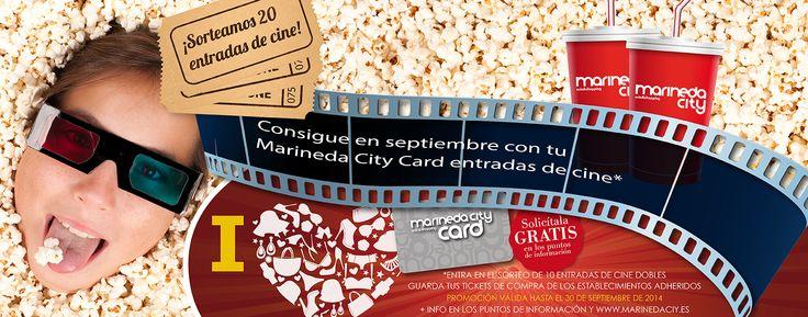 ¿Hace un cine gratis? Muy fácil: utiliza tu Marineda City Card durante el mes de septiembre, conserva los tickets de compra o consumo y podrás entrar en el sorteo de 20 entradas para Cinesa Consulta las bases en: http://www.marinedacity.es/index.php?ids=936&lang=es #promociones #sorteos #ocio #MarineedaCity #LivingLaVidaCity