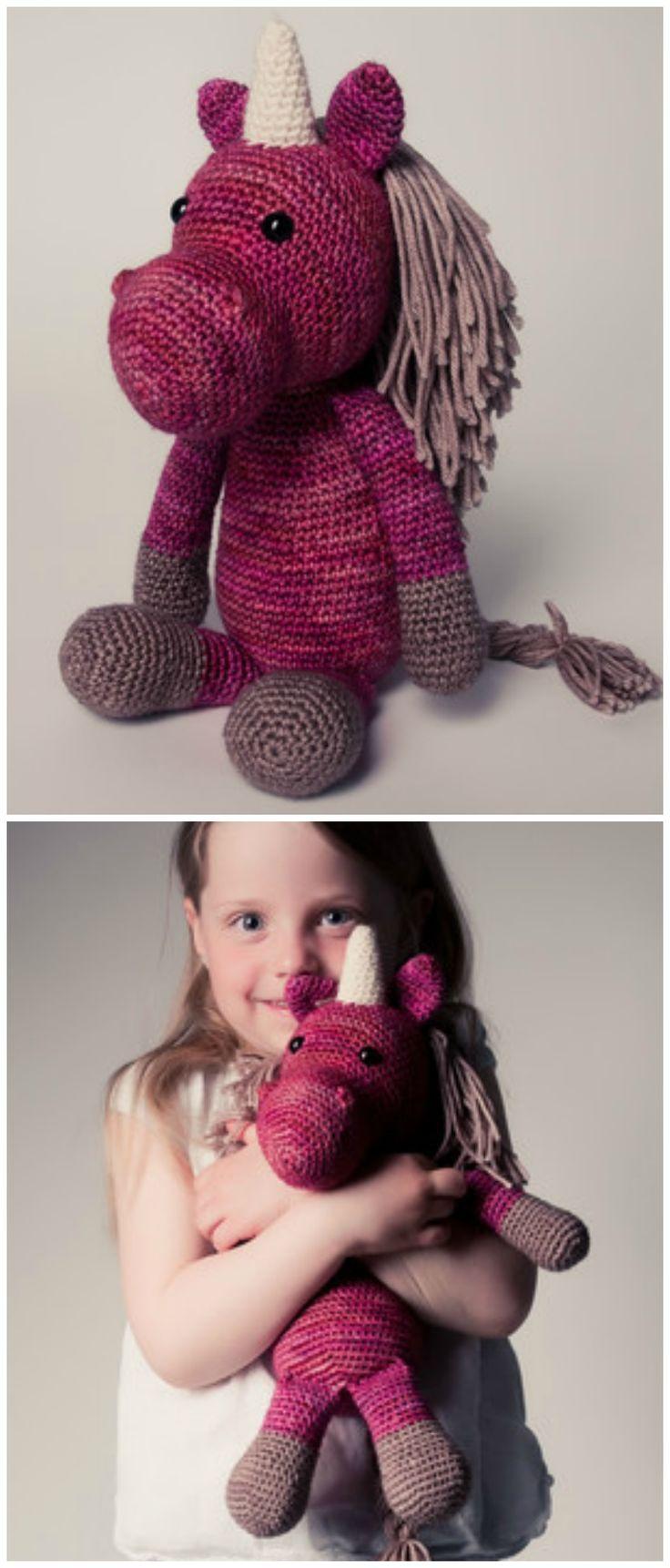 Süßes gehäkeltes Einhorn in Deiner Wunschfarbe, Geschenkidee für Kinder / gift idea for kids: crocheted unicorn in the colour of your choice made by pauSchal via DaWanda.com