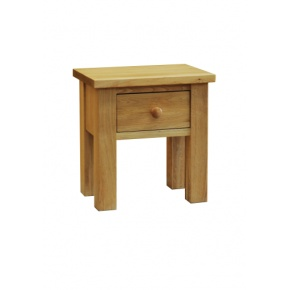Contemporary Solid Oak QPLT Lamp Table With Draw  www.easyfurn.co.uk