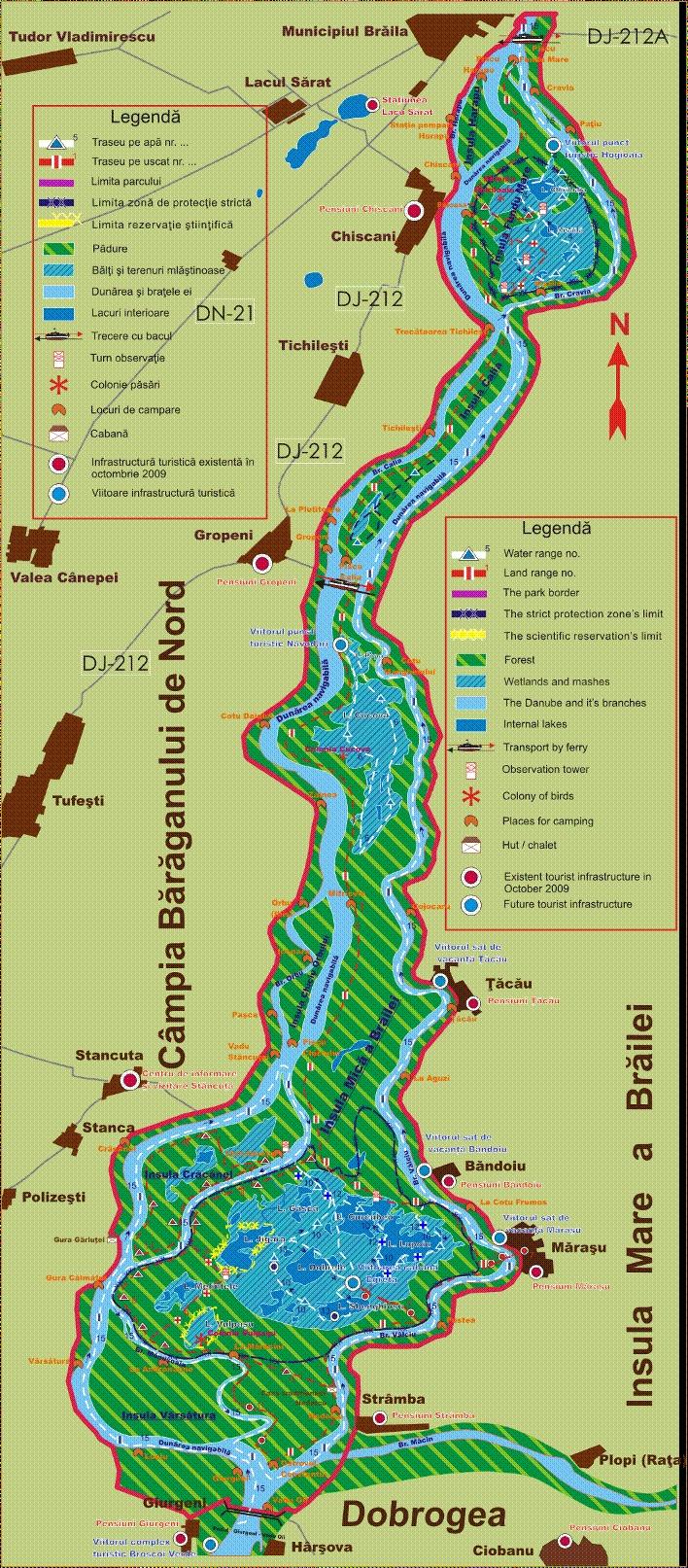 Harta turistica a Baltii Mici a Brailei
