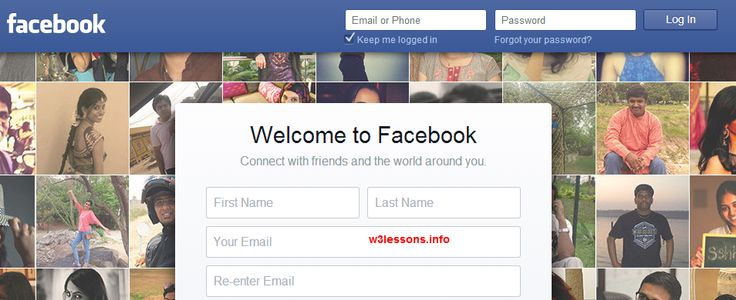 Alert box Facebook Style Homepage Design with Registration Form, Login Form using CSS3