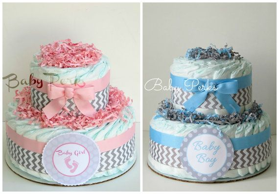 Pink and Grey Baby Shower . Blue and Grey Safari Diaper by MsPerks