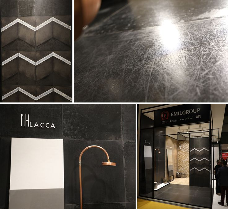 """Emil Group presents L'H by Viva, the series honored by the prestigious Ceramic Design Award at Cersaie 2016. These tiles are characterized by the intense colors and """"worn"""" surfaces covered by scratches and rubbed spots."""