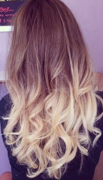 Light brown / blonde hair , dip die | Hair | Pinterest