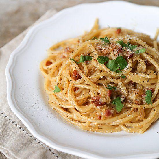 Die besten 25+ Pasta cabonara Ideen auf Pinterest Carbonara soße